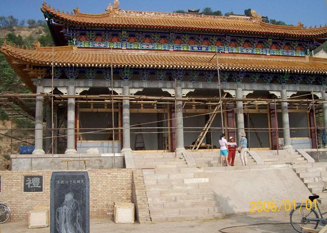 建造中的固原市东岳山 孔子大成殿